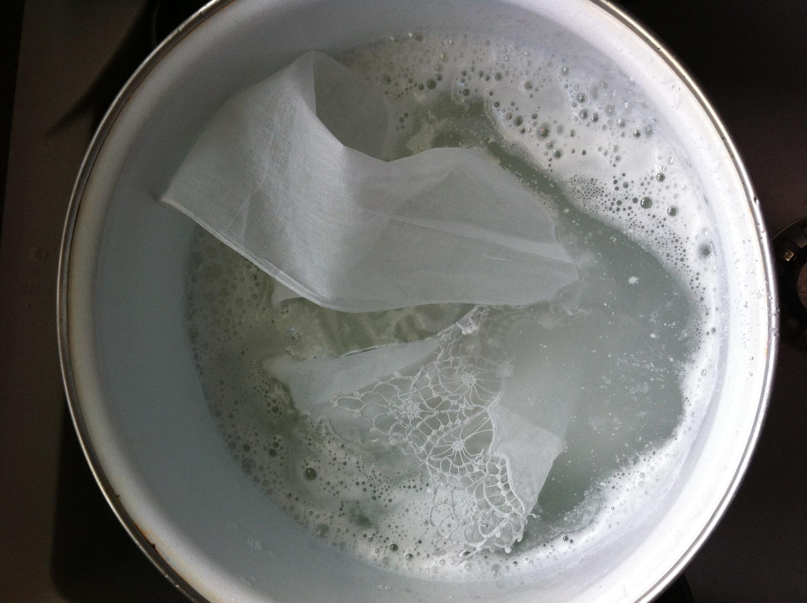 coiffe au lavage